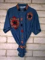 Country Stars Denim Shirt - Applique patterns free for quilting