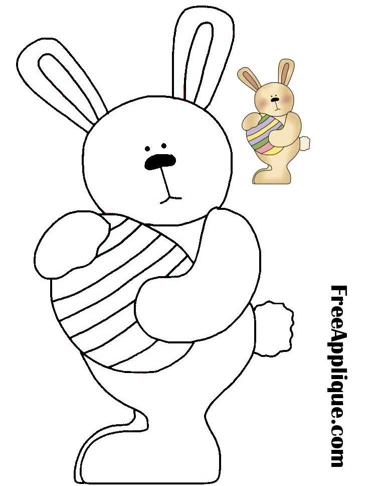 Easter Bunny Applique Pattern