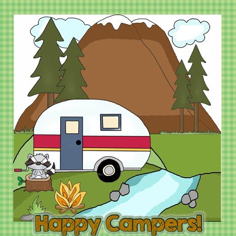 Happy Campers Applique Pattern