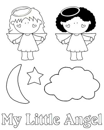 Line drawings for My Little Angel